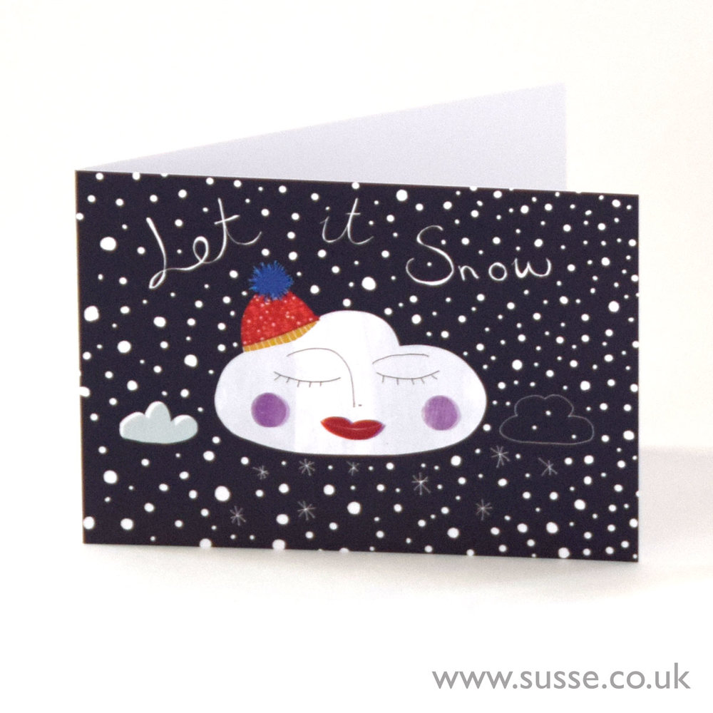 Let It snow Greeting Card Susse