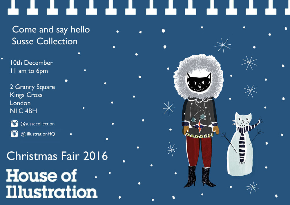 House of illustration Christmas Fair