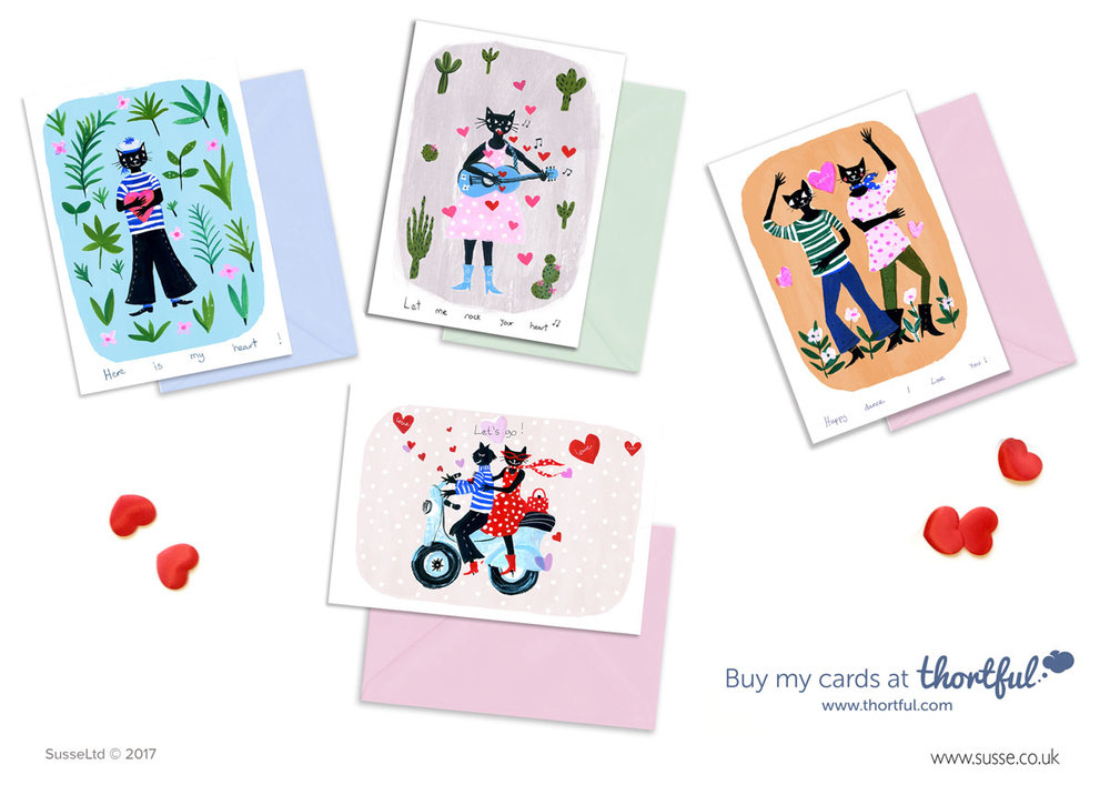 Valentin's day cards Thortful SUsse