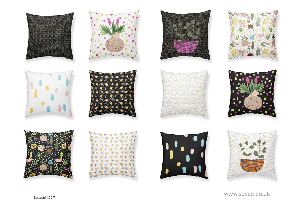 Tropical flowers Cushions