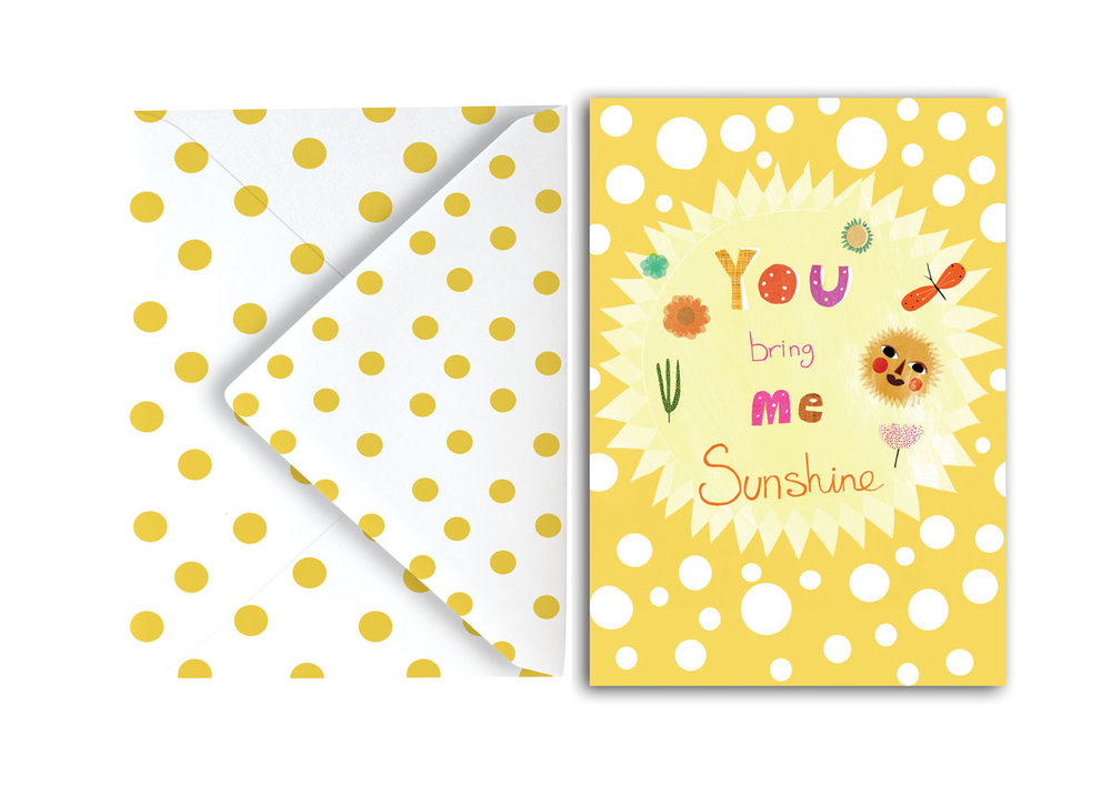 You bring me sunshine card