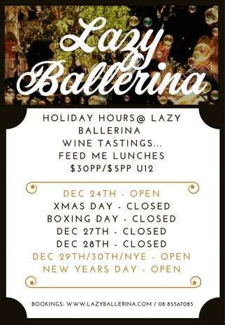 We are open Fri-Mon over the Christmas Holidays except for Xmas day which falls on a Monday.