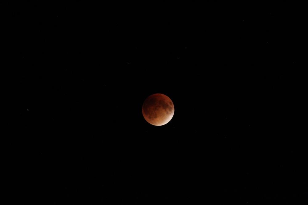 Full eclipse, supermoon Sept. 27th 2015 10:29pm GMT -4 月食の部分、スーパームーン 2015年9月27  日21時24分GMT-4