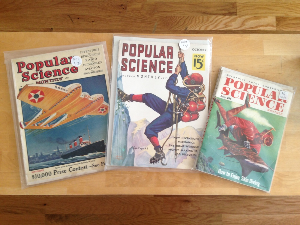 Purchase of the Week! From left to right: September 1925, October 1936 and July 1955 issues.