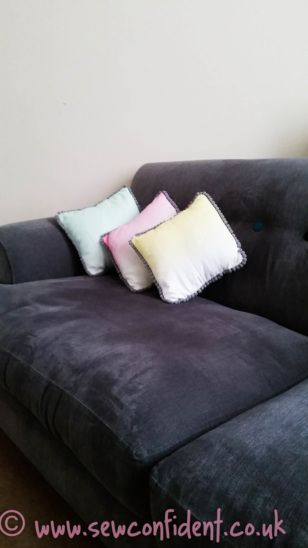sew confident ombre cushions