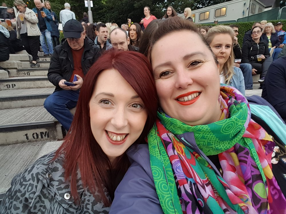 Laura (left) & Heather (right) are now great friends after meeting on one of our classes! Here they are meeting up for a concert in Glasgow - AMAZING!
