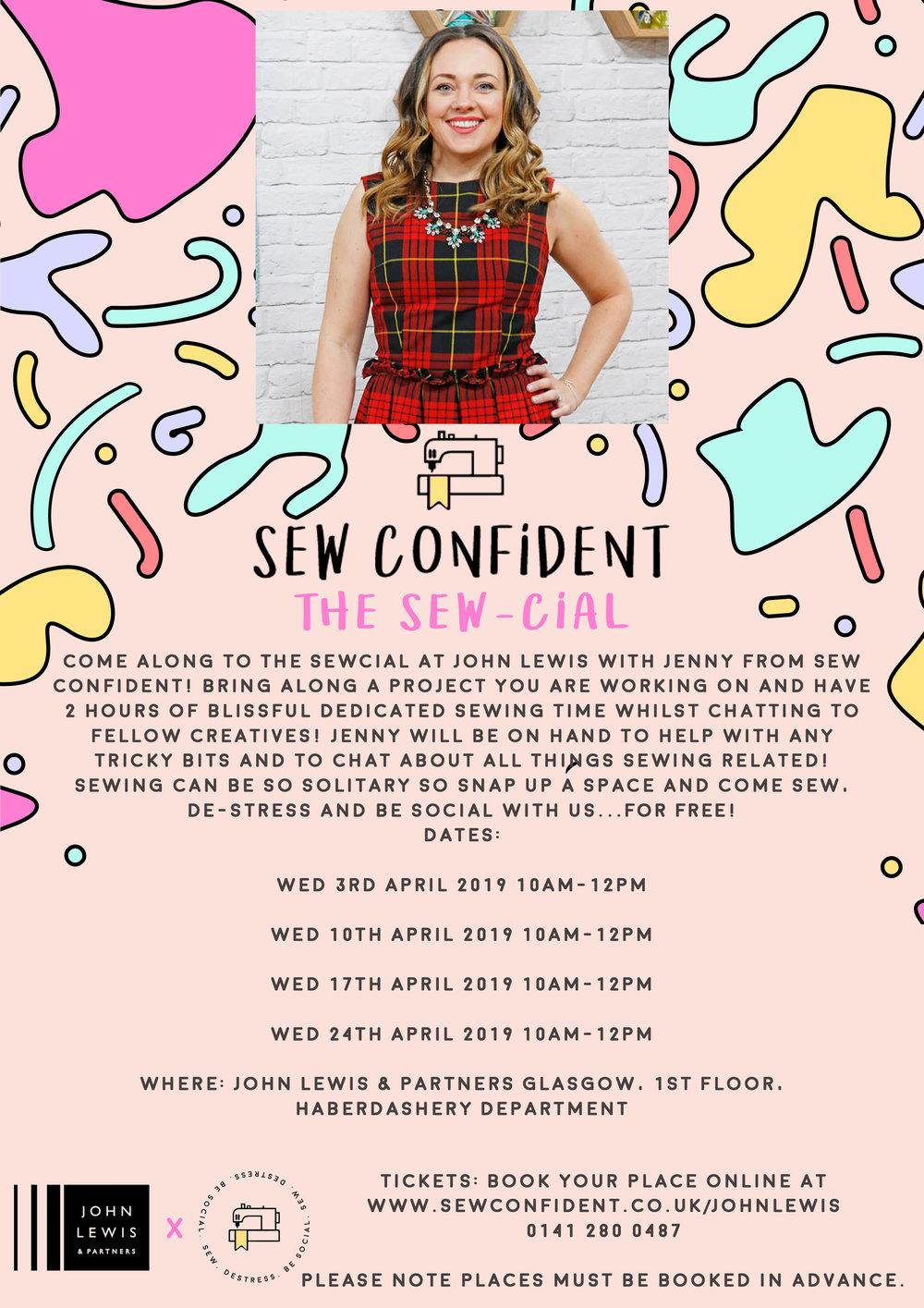 john lewis and sew confident classes