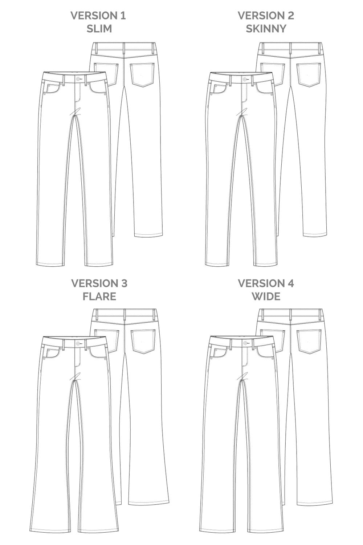 Ash Jeans Pattern Set