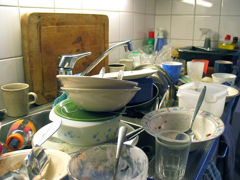 Dirty dishes have to get done. They're just part of life.