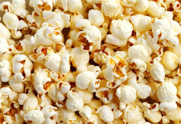 Popcorn, ready for it's  close-up