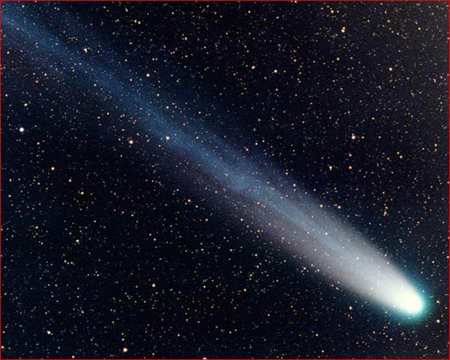 A comet is not a star, by the way