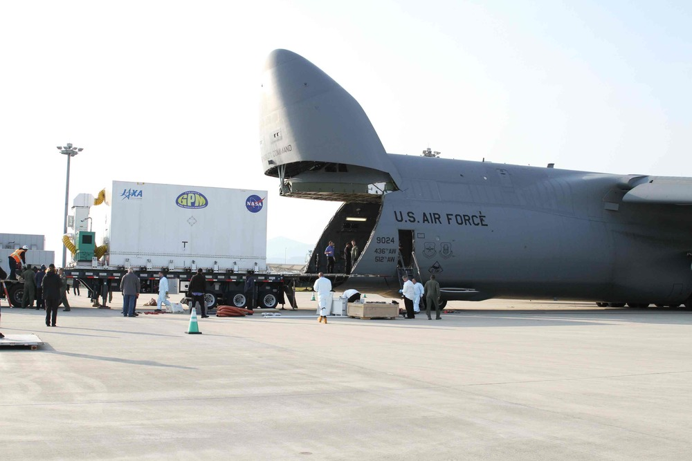 Travel to Japan by USAF C5-M Galaxy cargo jet is travel of a completely different sort!