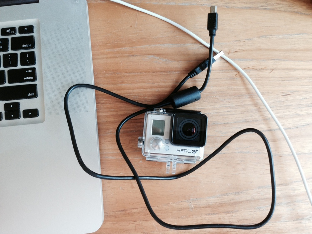 If I can't find the cable that connects my GoPro to my computer, neither of them will be particularly useful.