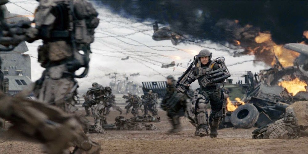 War, even the futuristic, sci-fi variety, does not generally evoke thoughts of a good time. Nonetheless we all line up to buy movie tickets, usually eagerly, with the promise of popcorn to accompany the fray. Photo Courtesy -- Warner Bros.