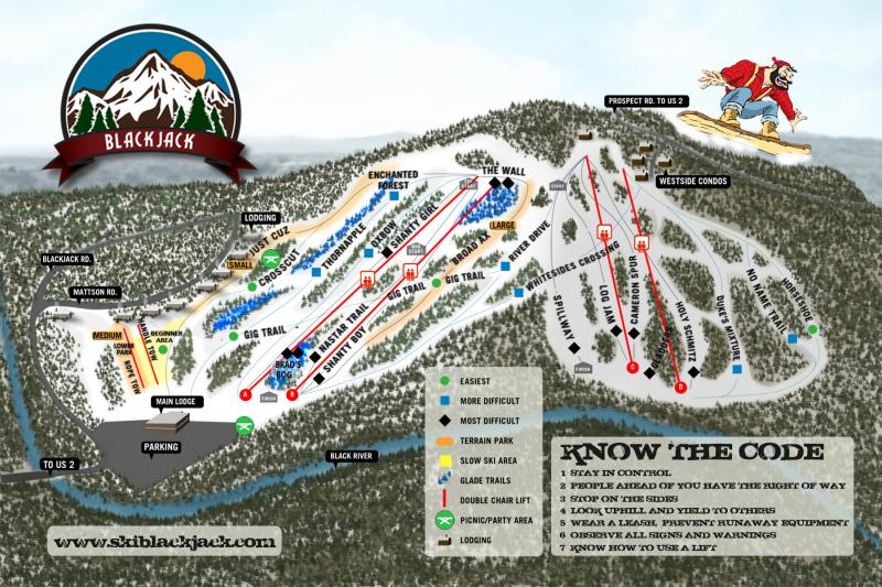 Blackjack Trail Map