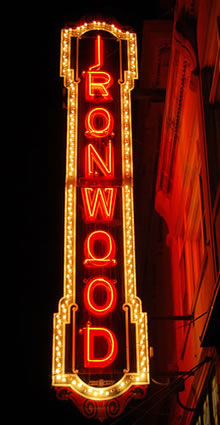 Ironwood Theatre Sign