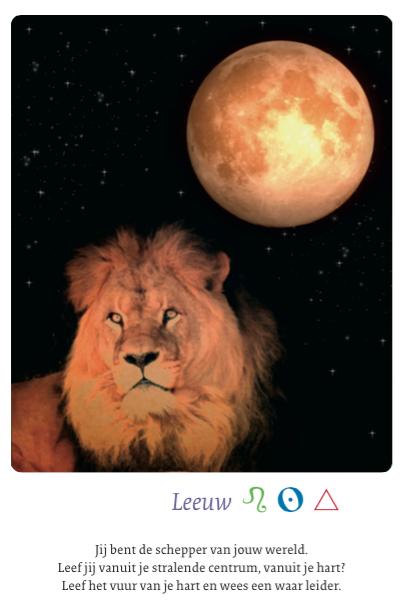 Deze kaart komt uit 'De Maan - 66 mystieke kaarten voor bewustwording' van Petra Stam Uitgever: A3 boeken
