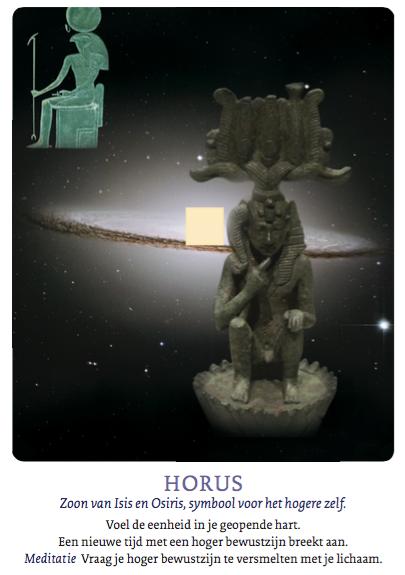 'Horus' uit de Isis mysteriekaarten
