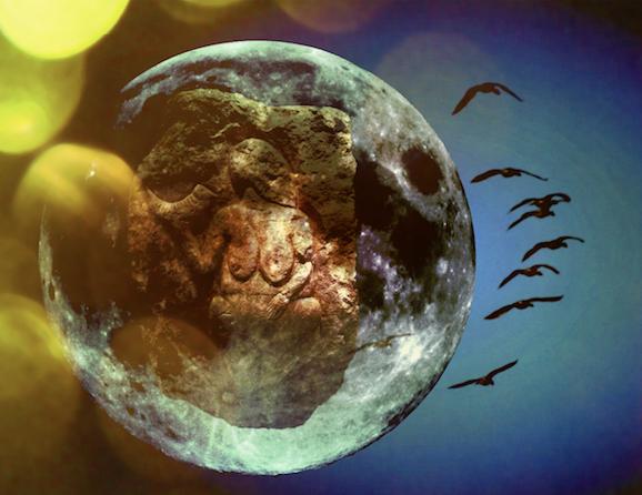 'Venus met de hoorn' in de Maan.In mijn nieuwste boek Krachtdieren lees je waarom zij bij Bizon hoort.