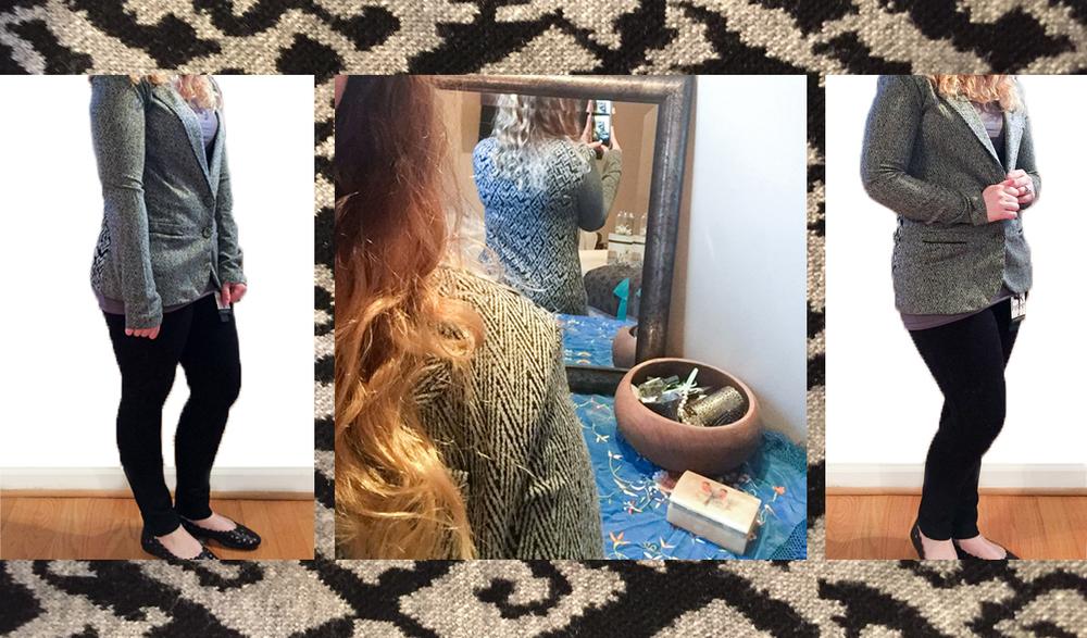Item 3: Tart Blithe Chevron Knit Blazer