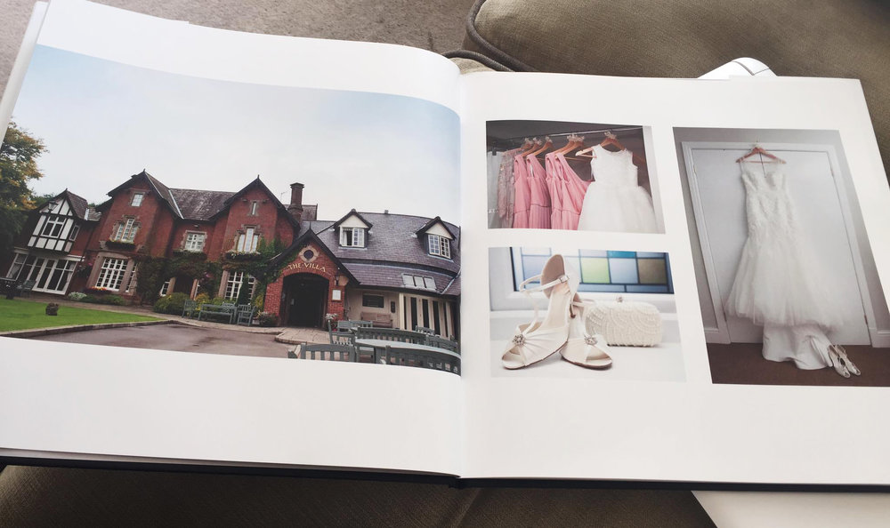 A photo from one of my brides when she recieved her photo book.