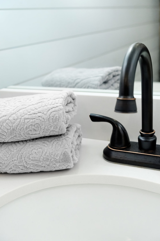 hand towel ,  faucet