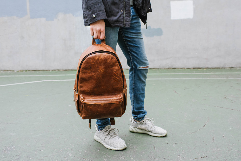 The Clifton  - backpack style made of leather