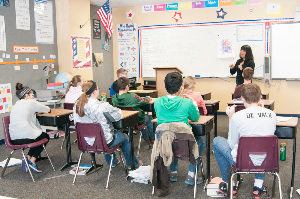 Spanish class with Mrs. Corina barthell