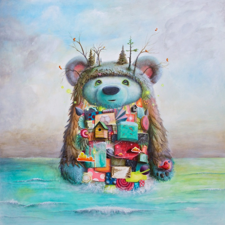 """The Adventure""  36""x36"" acrylic on wood"