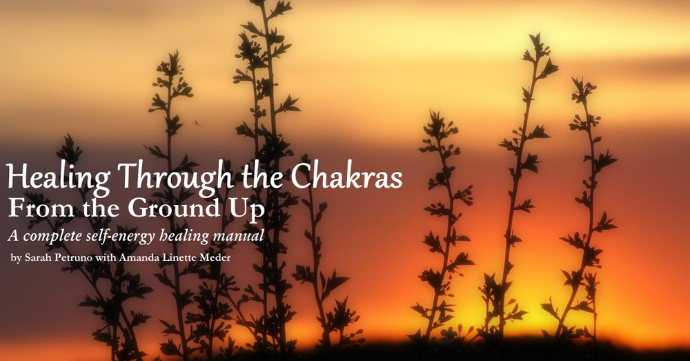 Healing Through the Chakras: From the Ground Up. A self-led, self-chakra healing workbook by Sarah Petruno with Amanda Linette Meder