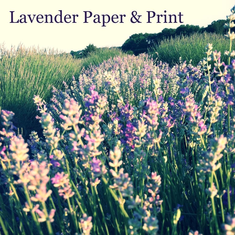 Lavender Paper & Print