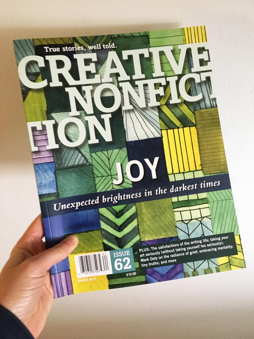 Creative Nonfiction Issue #62 Joy