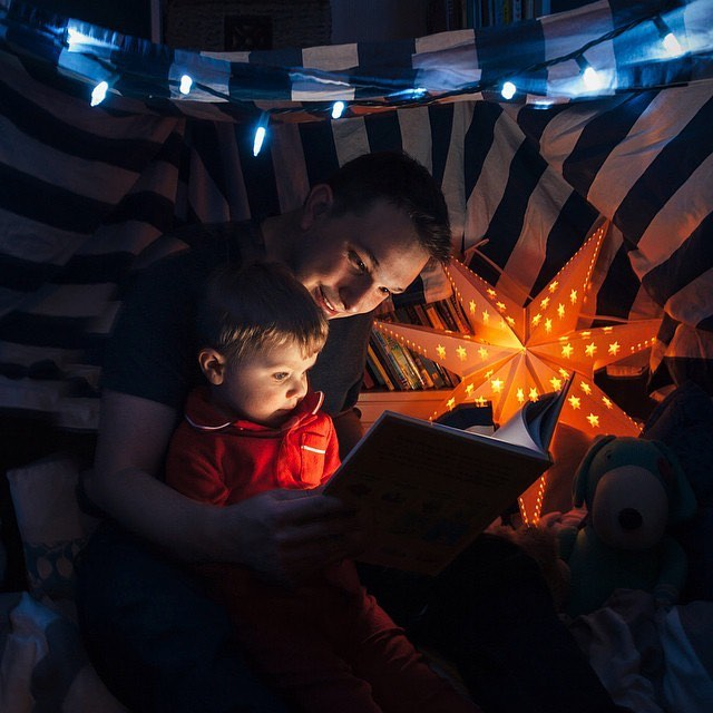 One of the things I know I'll never regret is the amount of time spent reading with my kids. It's one of the great joys of my life and has bound us together in so many ways. / #readaloudrevival #readingmore #fatherhood