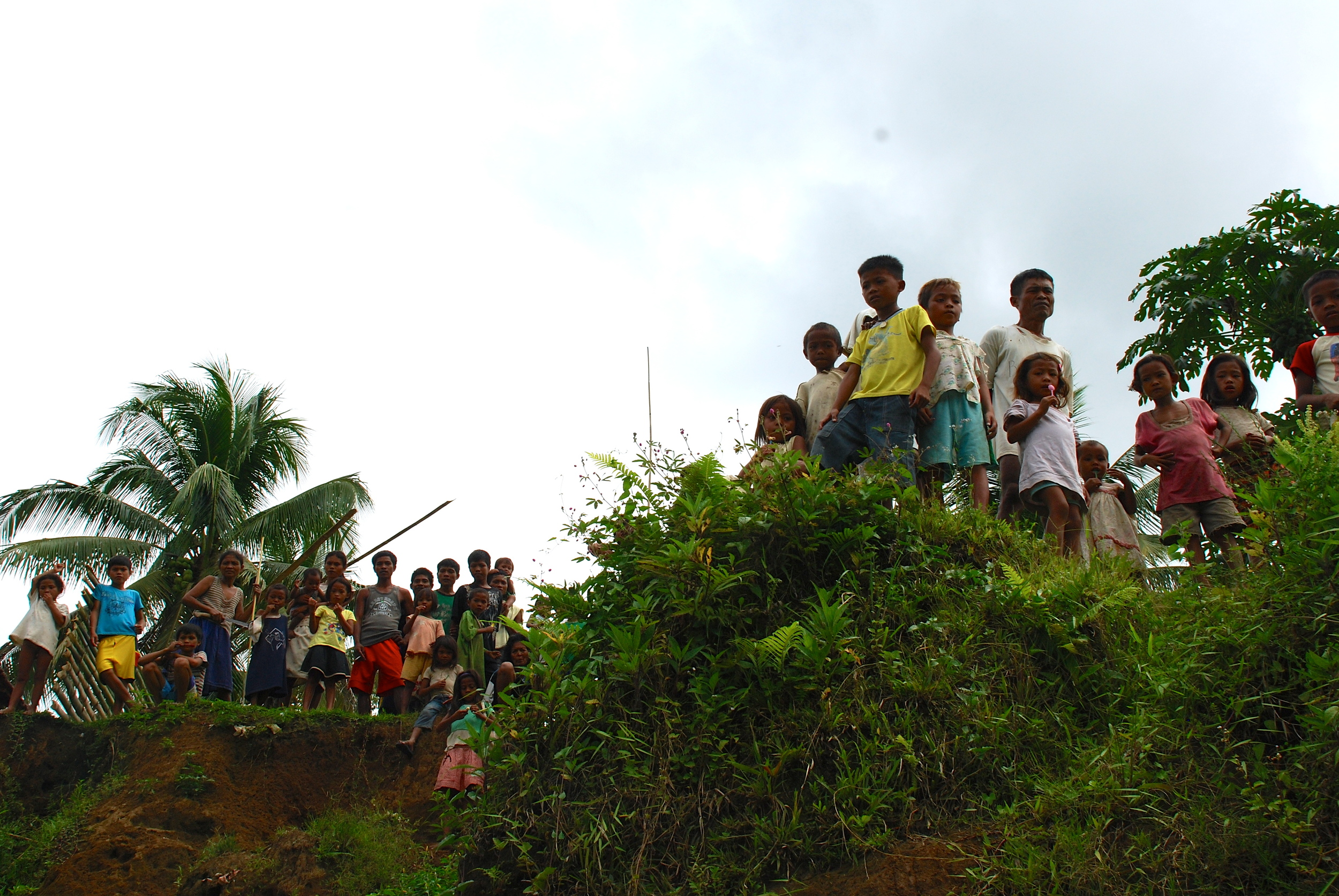 Tribal children in the mountains of Mindanao