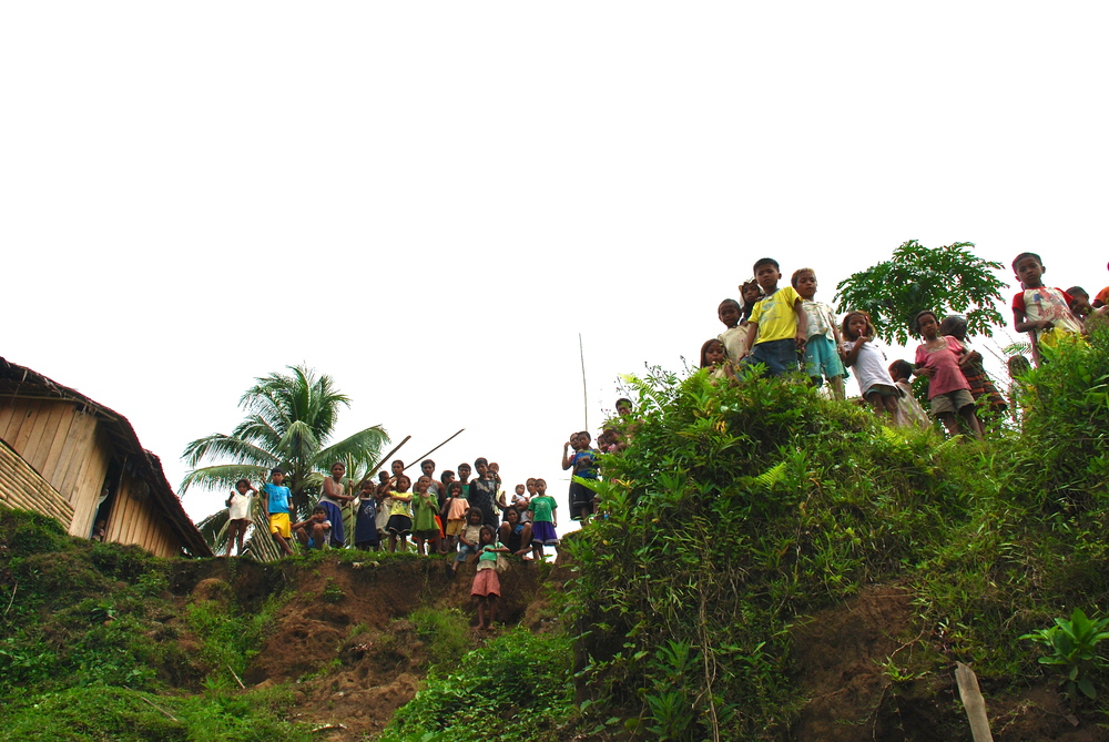 Children waiting for a school in the mountains of Mindanao