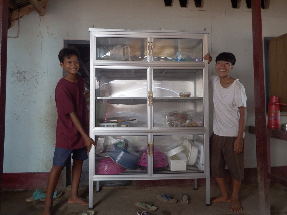Children with new Cupboard.JPG