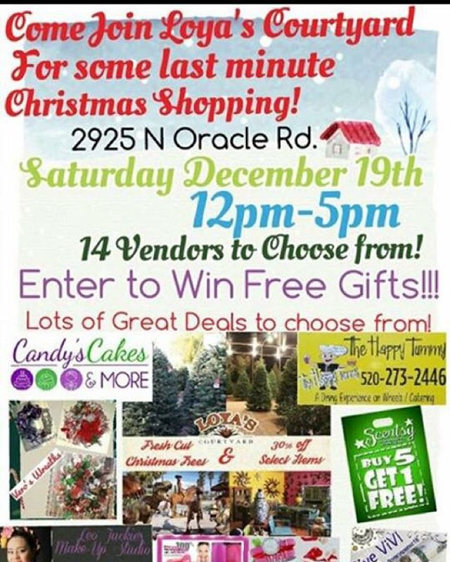 Lots of last minute shopping to do! With lots of Great Deals!  December 19th 12pm-5pm Vendors: Primerica Metro PCS Pure Romance Leo Jacky Make-Up studio Scentsy Vivi jewelry Veros Wreaths and much more!