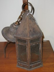 "Early 20th Century Lantern - $325 Height: 23.5"" Width: 7"""
