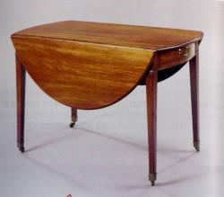 "George III Mahogany Pembroke Table - $5600  Height: 29""  Width: 24""-42""  Depth: 53"""