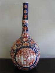 "Late 19th Cen. Japanese Imari Bottle Vase  - $3200  Height: 25""  Width: 13""  Depth: 13"""