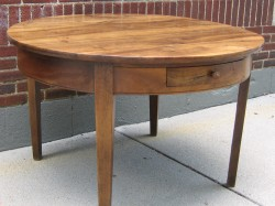"Continental Circular Walnut Dining Table  - $3600  Height: 29""  Width: 47""  Depth: 47"""