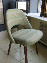 "Set of 6 Vintage Saarinen Chairs in Custom Fabric - $7000/set Height: 31"" Width: 20"" Depth: 18"""