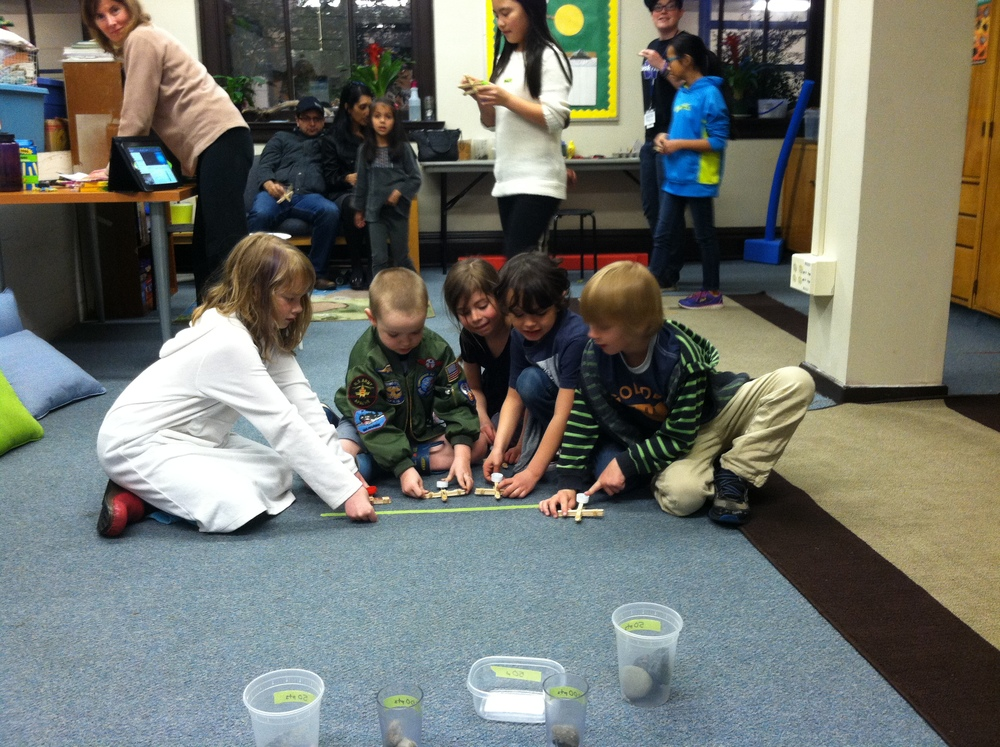 Team-building activities using simple machines and launching boulders with catapults