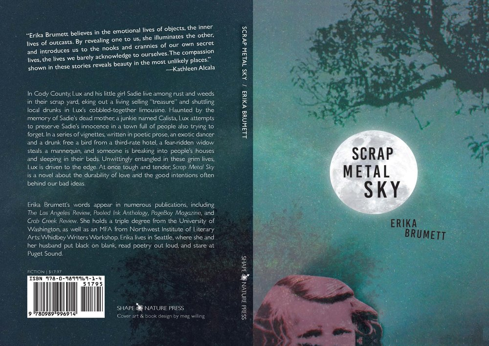 Cover art + interior design for Erika Brumett's   Scrap Metal Sky   (Shape&Nature Press, 2015.)