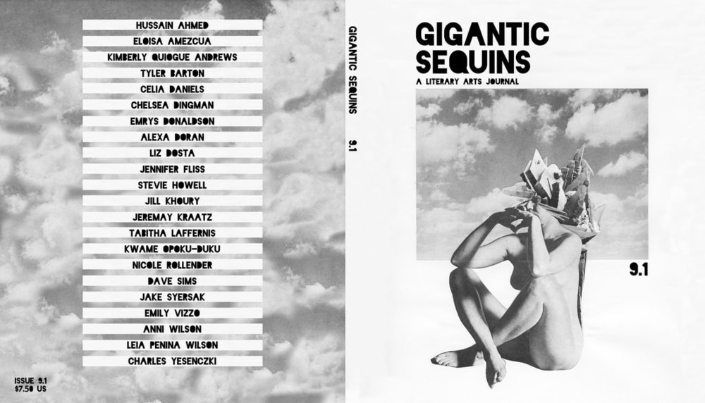 Cover design + interior layout for   Gigantic Sequins: A Literary Arts Journal ,Issue 9.1  (January 2018).