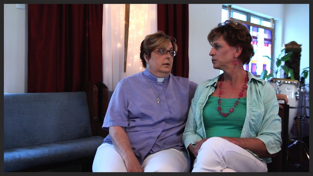 Pastor Joy Simpson of Eternal Joy MCC, and her partner Stacy Sandburg, discuss their relationship and experience in the Dayton community.