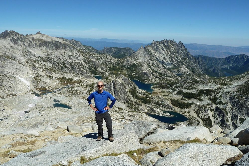 Brian Emtman Hiking in the Cascade Mountains of Washington State.