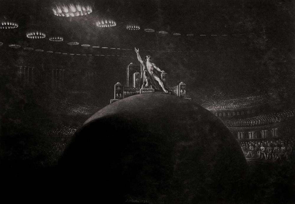 Satan Presiding at the Infernal Council , John Martin, circa 1825.  Courtesy of Wikimedia Commons.