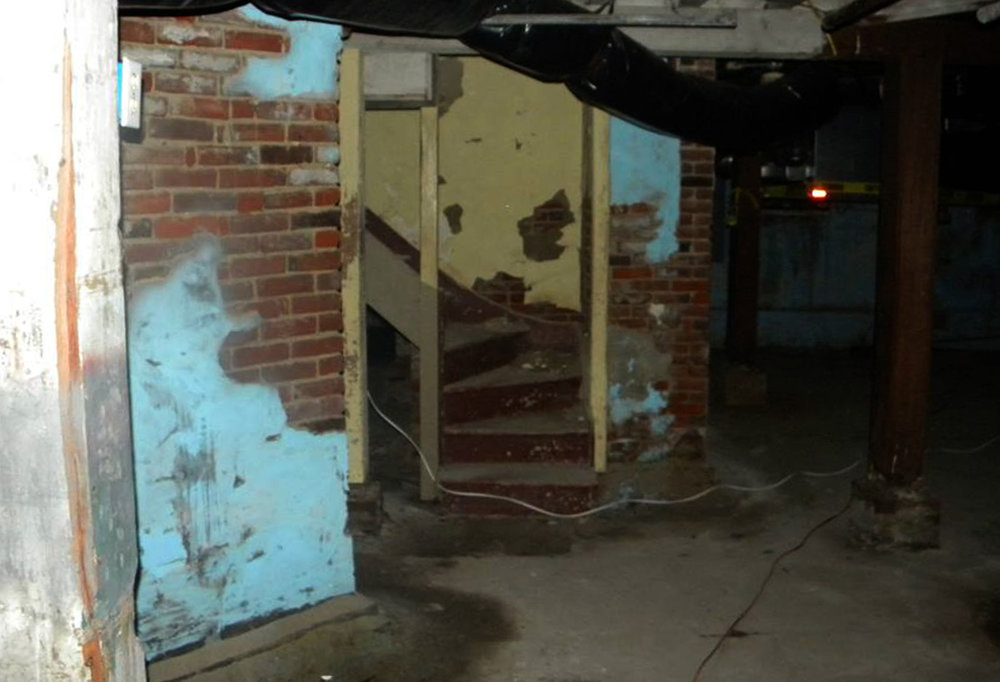 Staircase leading to one of three above-ground floors.  Photo courtesy of Puget Sound Ghost Hunters.