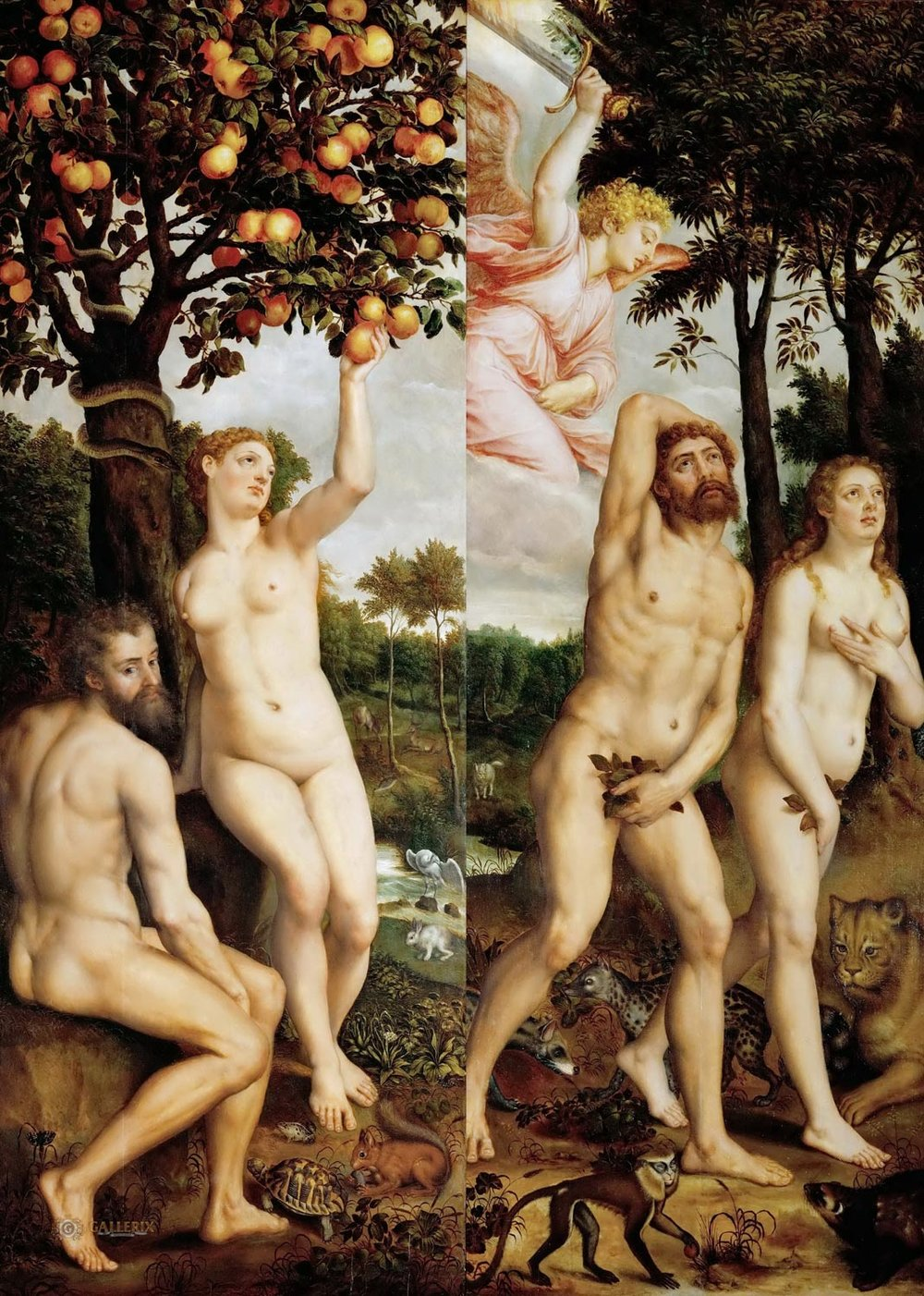 Fall of Man and Expulsion from Paradise, Michiel Coxcie, ca. 1550